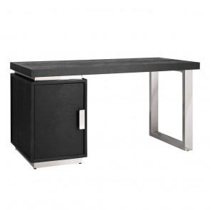 Písací stôl Blackbone strieborné nohy, skrinka 1-dverová Cabinet possible left/right