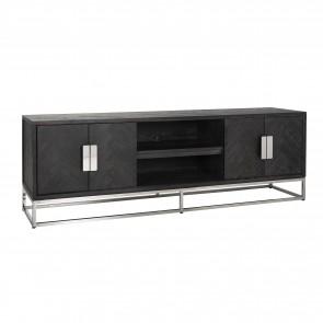 TV skrinka 185 čierna, strieborná 4-dvierka