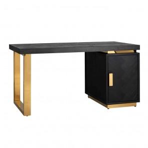 Písací stôl Blackbone zlaté nohy, skrinka 1-dverová Cabinet possible left/right