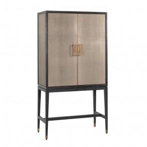Barová skrinka Bloomingville, 2-dverová, imitácia žraločej kože