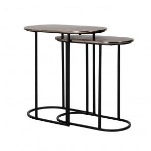 Bočný stolík Chandon set 2 ks, oválný