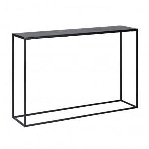 Konzolový stolík Bolder, čierny hliník