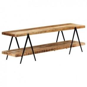 FEDORA HOME policová zostava pod TV alebo umývadlá 160x40x50 cm masívne mangovníkové drevo