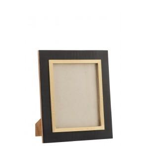 Fotorámik z čierneho dreva so zlatým rámom na foto 20x25 cm