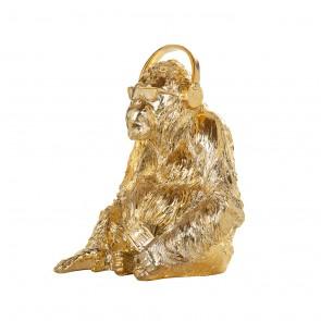 Gorila music dekoračný predmet zlatý