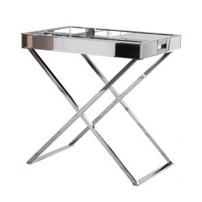 Zrkadlový bočný stolík