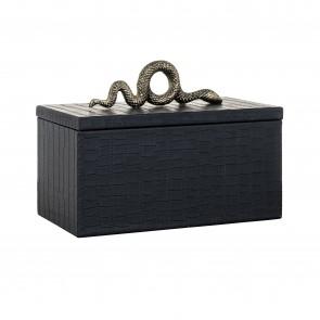Šperkovnica Charly hadia koža čierna