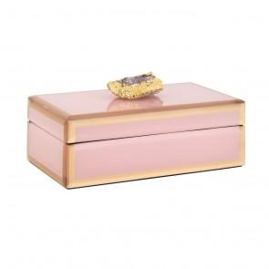 Šperkovnica Jaylyn ružová/zlatá