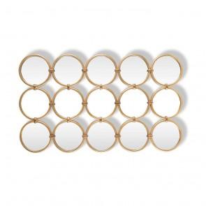 Zrkadlo Coley s 15 okrúhlymi zrkadlami