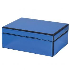 Modrá zrkadlová šperkovnica