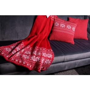 Deka Christmas červeno-biela, 115x180 cm
