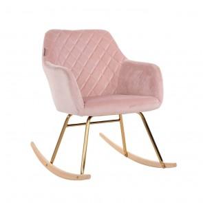 Hojdacia stolička Rocky ružový zamat
