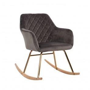 Hojdacia stolička Rocky šedý zamat