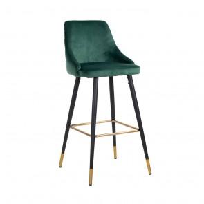 Barová stolička Imani zelený zamat