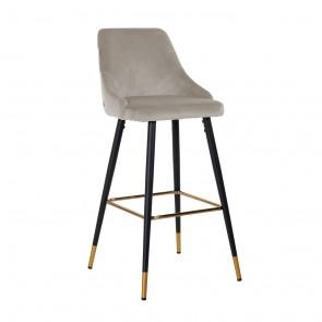 Barová stolička Imani hnedý zamat