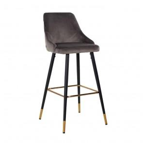 Barová stolička Imani šedý zamat