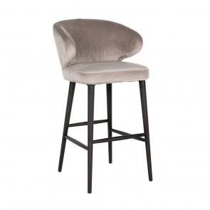 Barová stolička Indigo hnedý zamat