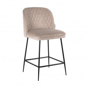 Barová stolička  Pullitzer hnedý zamat / čierne nohy