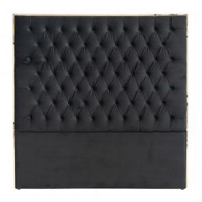 Čelo postele Lowell 180x180 čierny zamat / zlatá