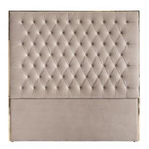 Čelo postele Lowell 180x180 béžový zamat / zlatá