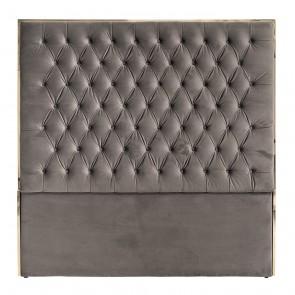 Čelo postele Lowell 180x180 šedý zamat / zlatá