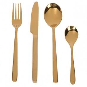 Set 24 ks zlatý príbor (stainless steel)